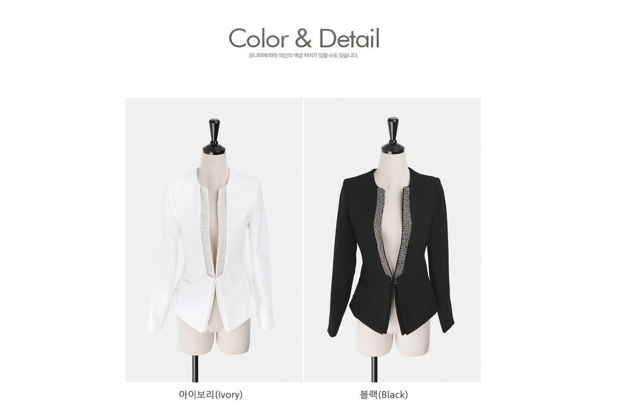 Pearl Beading Slim Line Jacket Korean fasion 2015 online shop malaysia singapore brunei indonesia china10