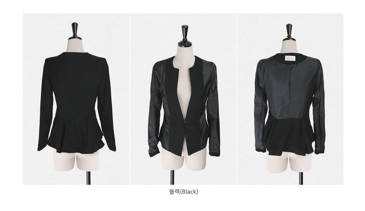 Pearl Beading Slim Line Jacket Korean fasion 2015 online shop malaysia singapore brunei indonesia china11