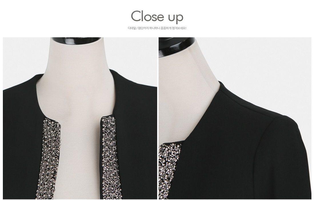 Pearl Beading Slim Line Jacket Korean fasion 2015 online shop malaysia singapore brunei indonesia china12