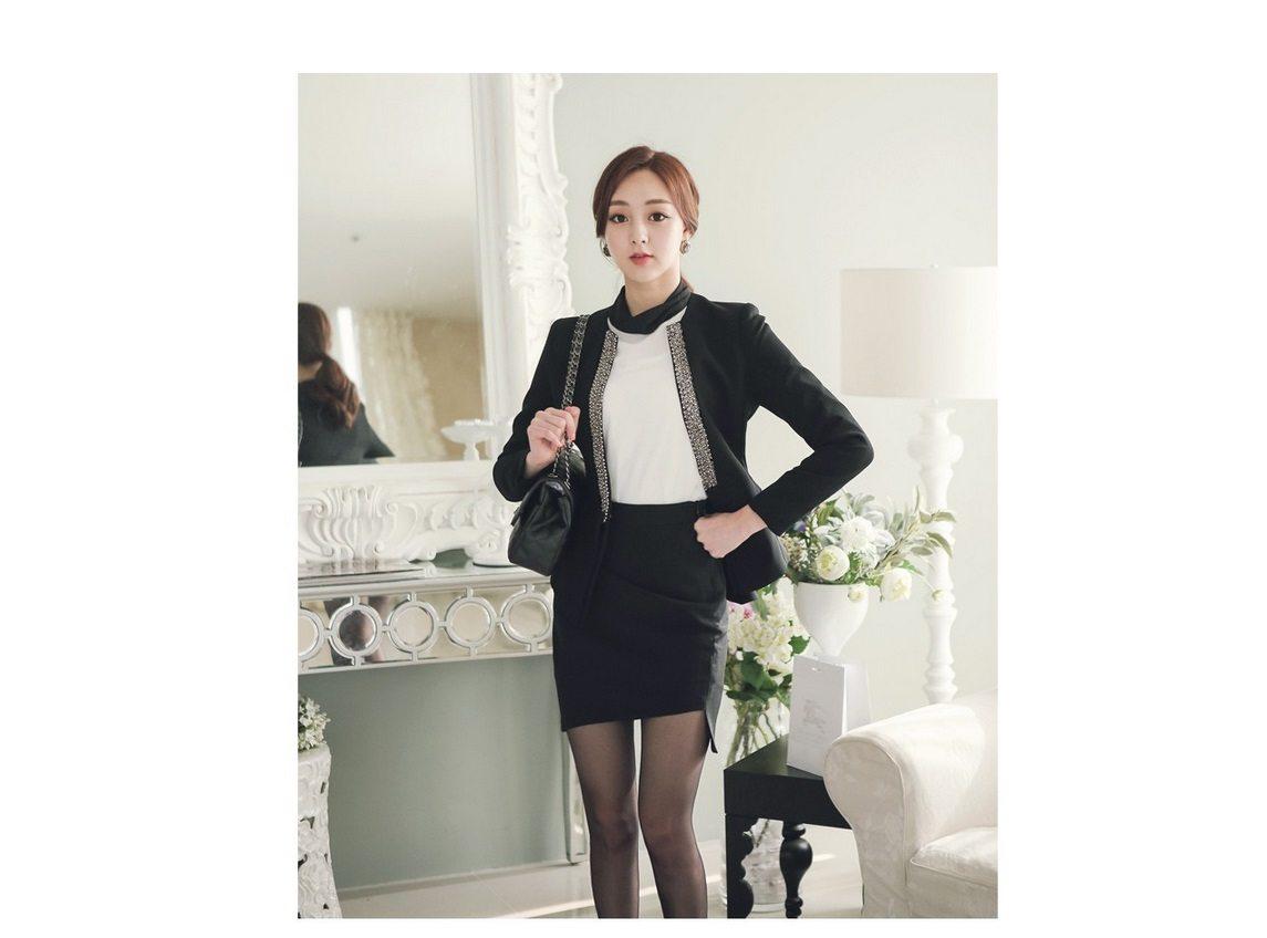 Pearl Beading Slim Line Jacket Korean fasion 2015 online shop malaysia singapore brunei indonesia china3
