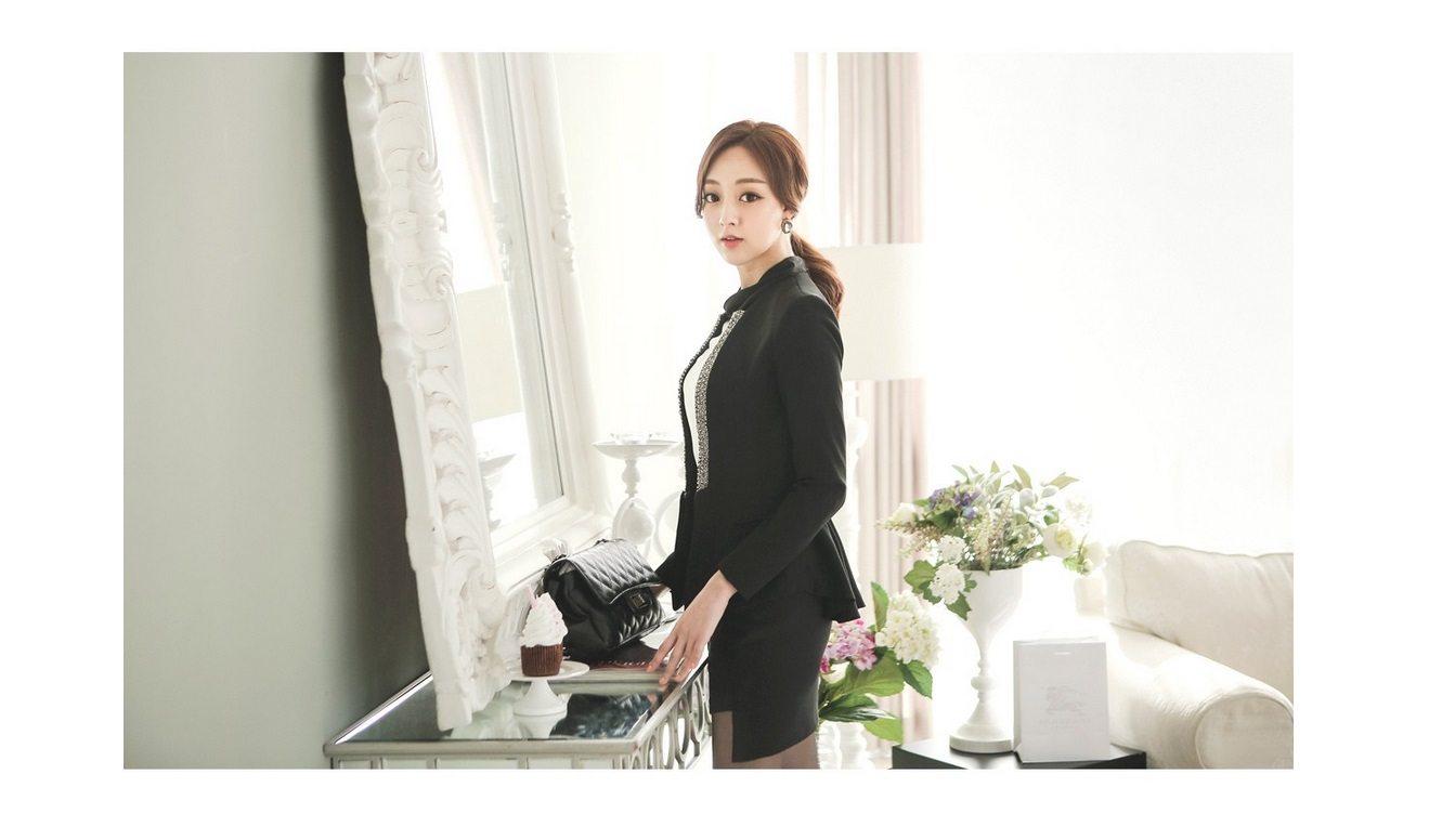 Pearl Beading Slim Line Jacket Korean fasion 2015 online shop malaysia singapore brunei indonesia china4
