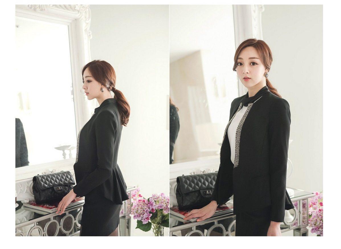 Pearl Beading Slim Line Jacket Korean fasion 2015 online shop malaysia singapore brunei indonesia china5