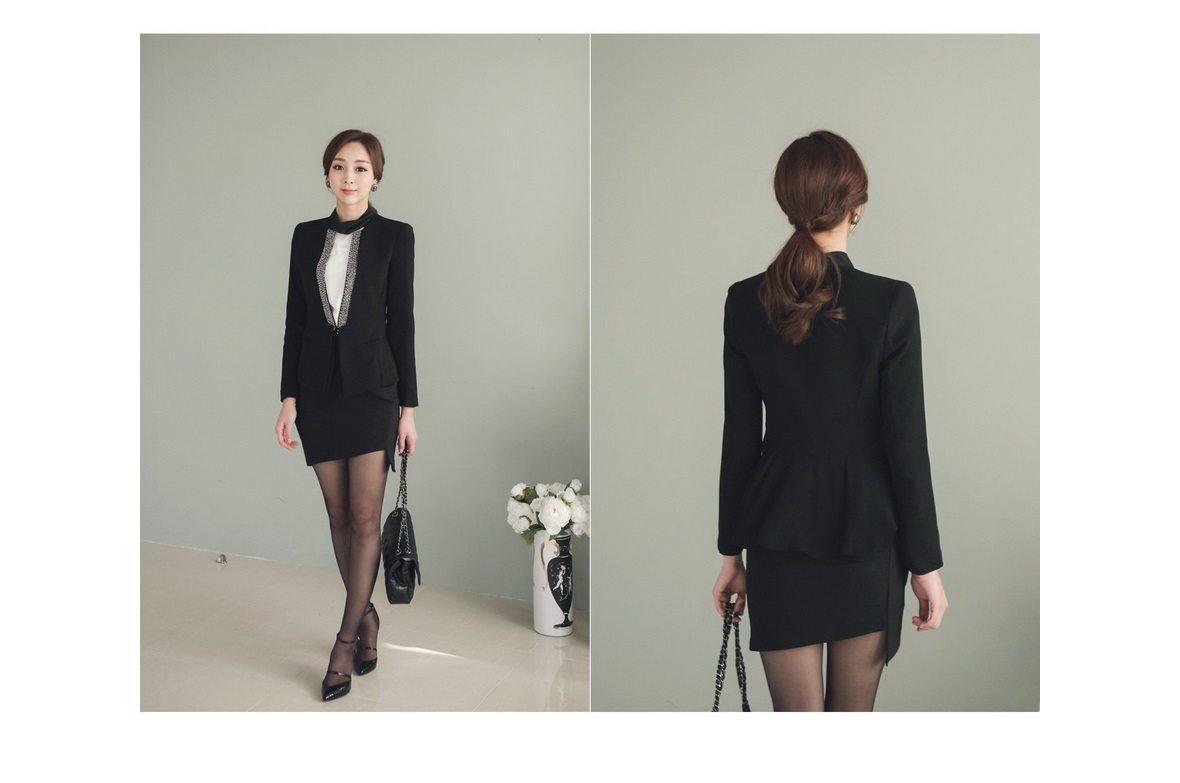 Pearl Beading Slim Line Jacket Korean fasion 2015 online shop malaysia singapore brunei indonesia china6