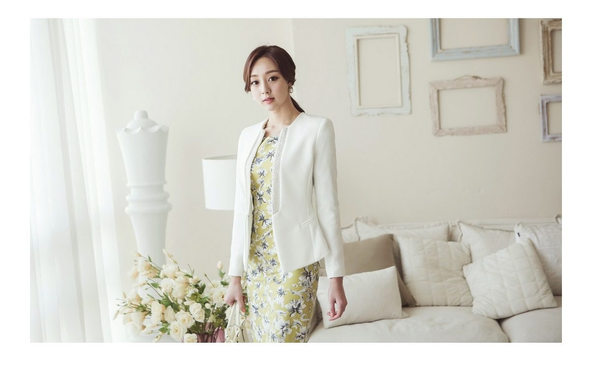 Pearl Beading Slim Line Jacket Korean fasion 2015 online shop malaysia singapore brunei indonesia china7