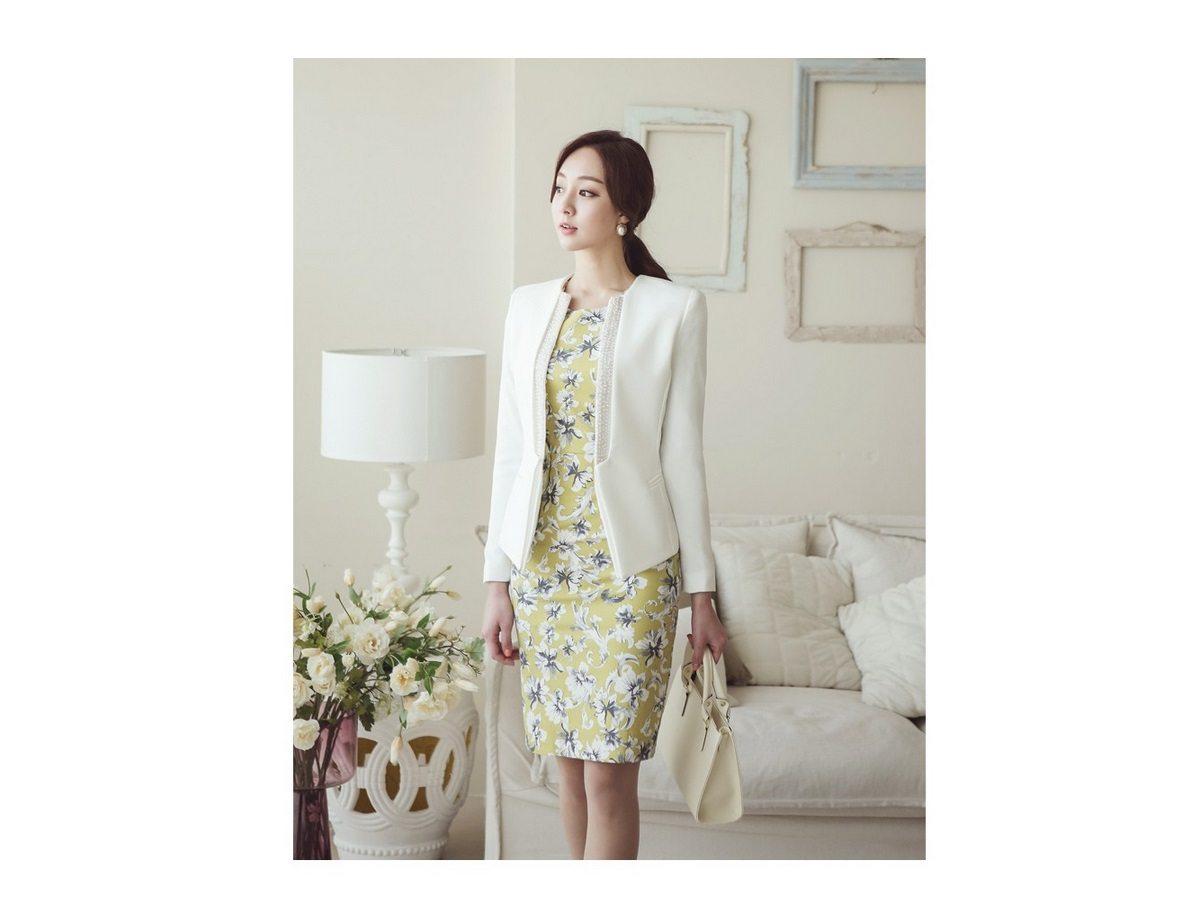 Pearl Beading Slim Line Jacket Korean fasion 2015 online shop malaysia singapore brunei indonesia china8