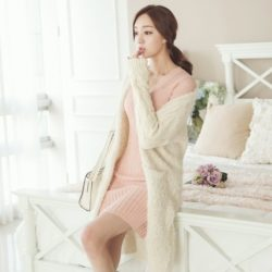 Pogeulyi Knit Long Cardigan Korean fasion 2014 online shop malaysia singapore brunei indonesia
