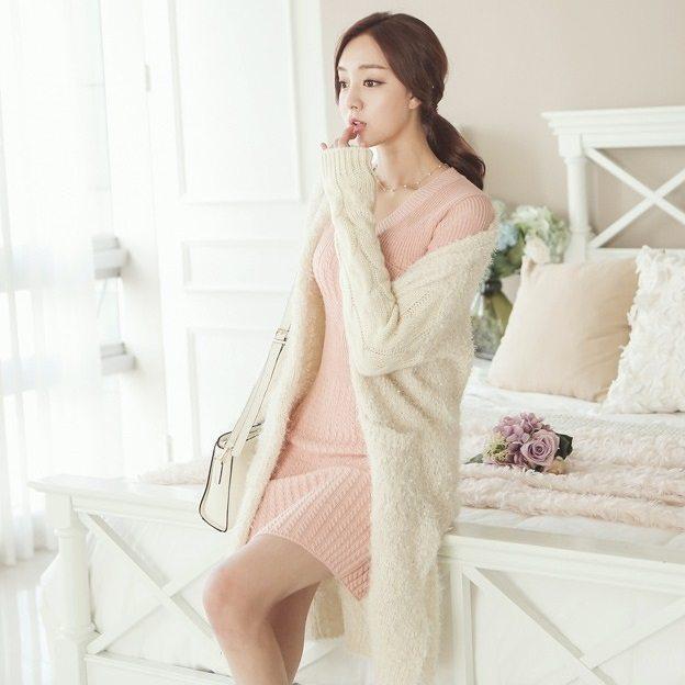 Pogeulyi Knit Long Cardigan Korean fasion 2014 online shop malaysia singapore brunei indonesia