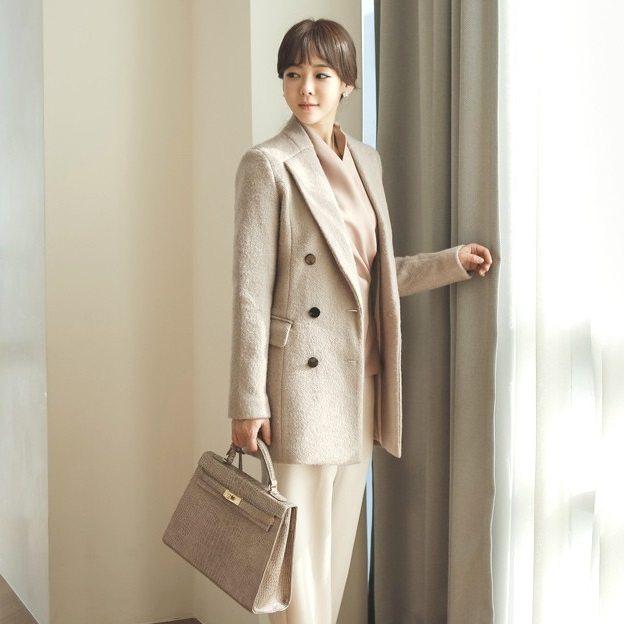 Sandra Double Wool Coat Korean fasion 2014 online shop malaysia singapore brunei indonesia china