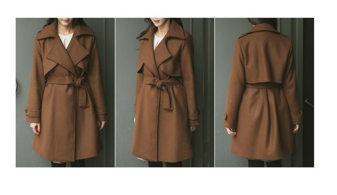 Tales Wool Trench Coat Korean fasion 2014 online shop malaysia singapore brunei indonesia china8