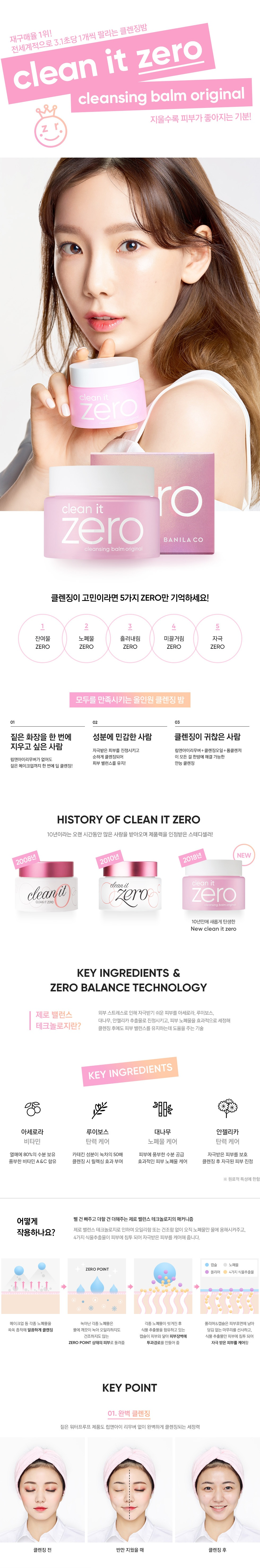 Banila Co Clean It Zero Deep MakeUp Cleanser korean comstic skincare product online shop malaysia India china1