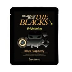 Banila Co. The Blacks Hydrogel Mask Brightening [Black Raspberry] 27g korean cosmetic online shop malaysia singapore indonesia