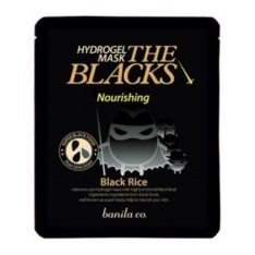 Banila Co. The Blacks Hydrogel Mask Nourishing [Black Rice] 27g korean cosmetic online shop malaysia singapore indonesia