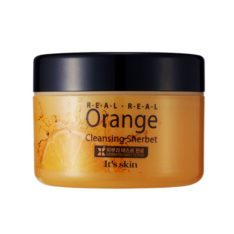 It's Skin Real Real Orange Cleansing sherbet korean cosmetic skincare shop malaysia singapore indonesia
