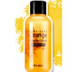 It's Skin Real Real Orange Powder Wash 50g korean cosmetic skincare shop malaysia singapore indonesia