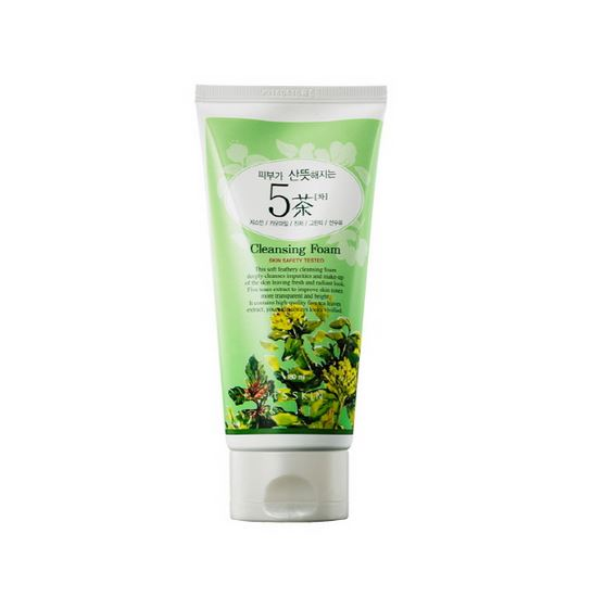 It's Skin Skin Freshening 5 Teas Cleansing Foam 180ml korean cosmetic skincare shop malaysia singapore indonesia