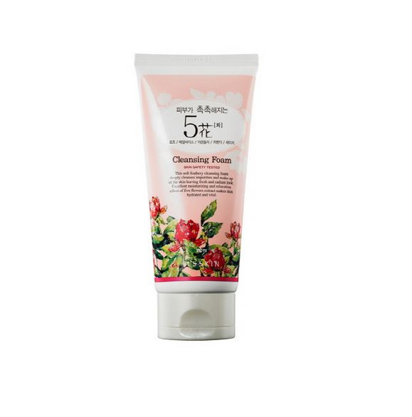 It's Skin Skin Moistening 5 Flowers Cleansing Foam 180ml korean cosmetic skincare shop malaysia singapore indonesia
