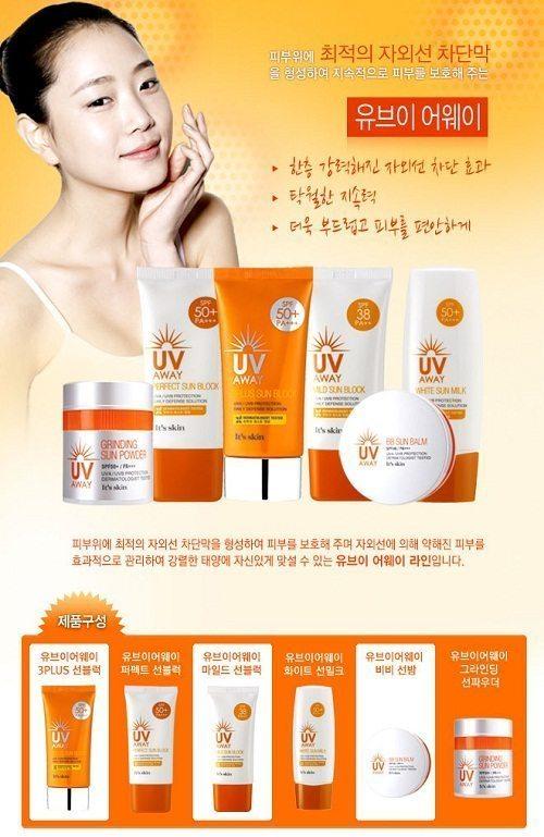 ผลการค้นหารูปภาพสำหรับ It's skin UV Away Perfect Sun Block SPF50 PA+++