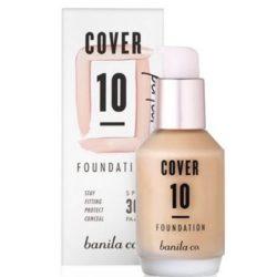 Banila Co. Cover 10 Perfect Foundation SPF 30 PA++ 30ml korean cosmetic skincare product online shop malaysia singapore indonesia