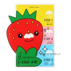 TONYMOLY Homeless Strawberry Seeds 3 Step Nose Pack 6g x 5 pcs korean cosmetic skincare product online shop malaysia singapore indonesia
