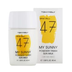 TONYMOLY My Sunny Powdery Finish Sun Milk 45ml korean cosmetic skincare product online shop malaysia singapore indonesia
