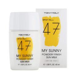 TONYMOLY My Sunny Powdery Finish Sun Milk 45ml korean cosmetic skincare product online shop malaysia singapore indonesia
