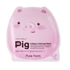 TONYMOLY Pure Farm Pig Collagen Hydrogel Mask 30g korean cosmetic skincare product online shop malaysia singapore indonesia
