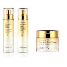 TONYMOLY Timeless Ferment Snail Toner 140ml + Emulsion 140ml + Cream 45ml korean cosmetic skincare product online shop malaysia ,singapore , indonesia