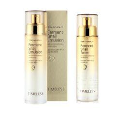 TONYMOLY Timeless Ferment Snail Toner 140ml + Emulsion 140ml korean cosmetic skincare product online shop malaysia singapore indonesia