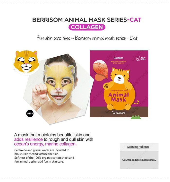 Berrisom Animal Mask malaysia singapore indonesia Cat