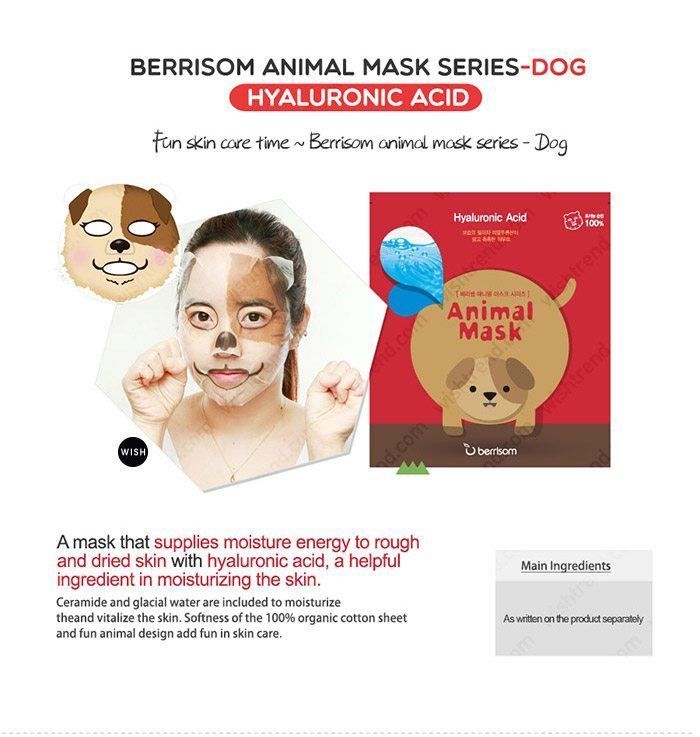 Berrisom Animal Mask malaysia singapore indonesia Dog
