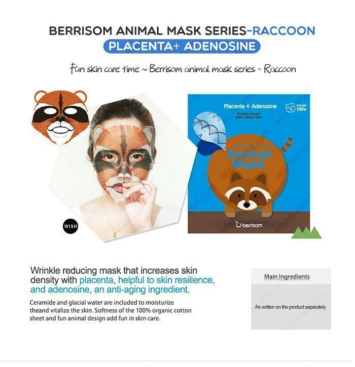 Berrisom Animal Mask malaysia singapore indonesia Raccoon