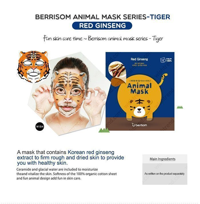 Berrisom Animal Mask malaysia singapore indonesia Tiger