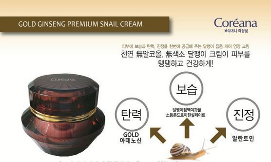 COREANA Orthia Gold Ginseng Premium Snail Cream 50ml | Best Price and Fast  Shipping from Beauty Box Korea