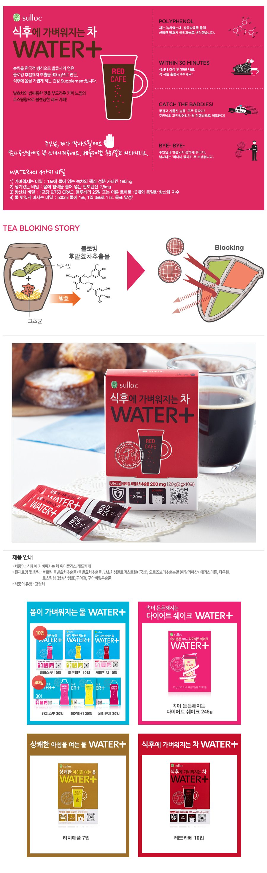 Osulloc Water Plus Red Cafe - Korean slimming product ...