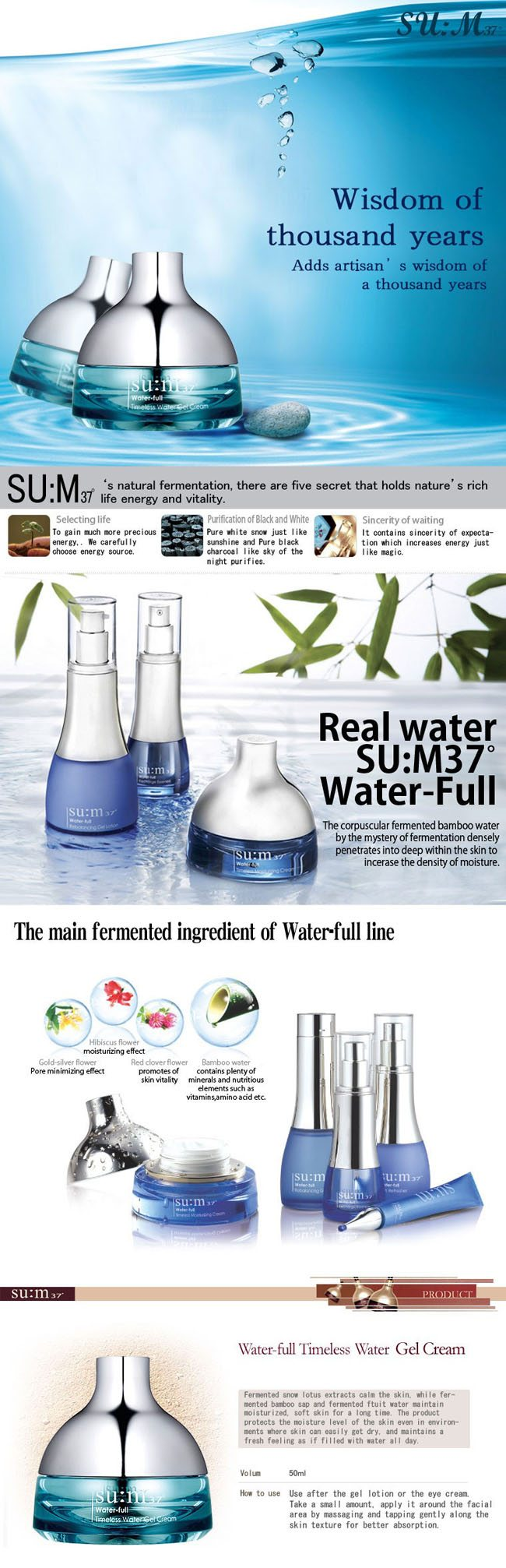 SUM37 Water full Timeless Moisturizing Cream 50ml malaysia singapore indonesia