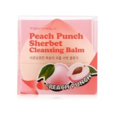 TONYMOLY Peach Punch Sherbet Cleansing Balm 80g korean cosmetic skincare product online shop malaysia singapore indonesia