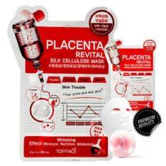 Topface Placenta Revital Silk Celllulose Mask korean cosmetic skincare shop malaysia singapore indonesia