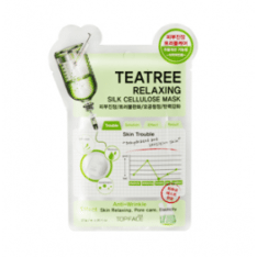 Topface TeaTree Relaxing Silk Cellulose Mask korean cosmetic skincare shop malaysia singapore indonesia