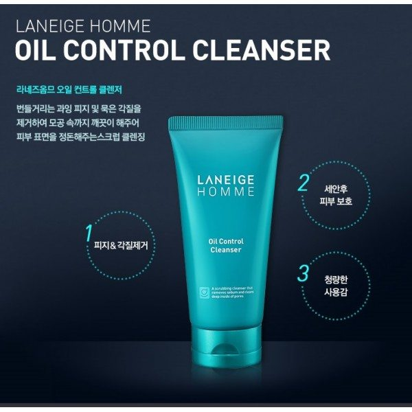 Laneige Homme Oil Control Cleanser 150ml malaysia singapore indonesia
