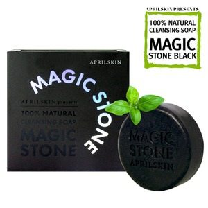 Apple Skin Magic Stone Soap 100g [Black] korean cosmetic skincare shop malaysia singapore indonesia