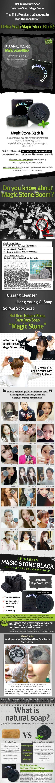 Apple Skin Magic Stone Soap 100g [Black] malaysia singapore indonesia