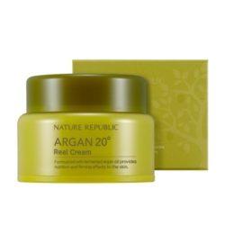 Nature Republic Argan 20 Real Cream 50ml korean cosmetic skincare shop malaysia singapore indonesia