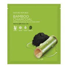 Nature Republic Bamboo Charcoal Black Mask Sheet korean cosmetic skincare shop malaysia singapore indonesia