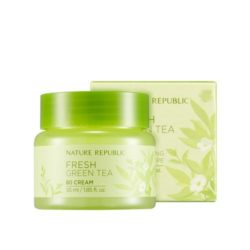 Nature Republic Fresh Green Tea 80 Cream 55ml korean cosmetic skincare shop malaysia singapore indonesia