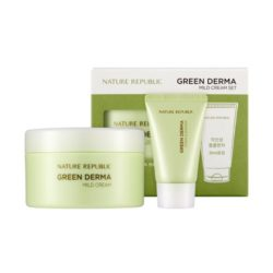 Nature Republic Green Derma Mild Cream Set 190ml+30ml korean cosmetic skincare shop malaysia singapore indonesia