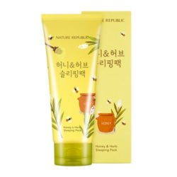 Nature Republic Honey and Herb Sleeping Pack 155ml korean cosmetic skincare shop malaysia singapore indonesia