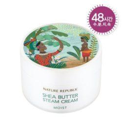 Nature Republic Shea Butter Steam Cream Moist 100ml korean cosmetic skincare shop malaysia singapore indonesia
