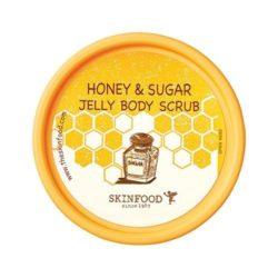SkinFood Honey and Sugar Jelly Body Scrub 200g korean cosmetic skincare shop malaysia singapore indonesia