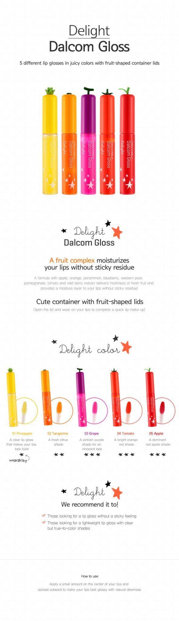 TONYMOLY Delight Dalcom Gloss 7ml