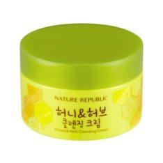 Nature Republic Honey & Herb Cleansing Cream 215ml korean cosmetic skincare shop malaysia singapore indonesia